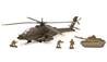 "Apache AH64 with Tank and Soldier Figures 10"" (1:55) by New Ray Diecast Item Number: NR21853"