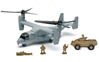 "Bell Boeing V22 Osprey with Armored Vehicle and Soldier Figures 10"" (1:72) by New Ray Diecast Item Number: NR21863"