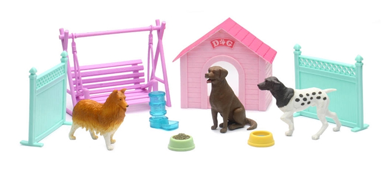 My Best Friend Dog Play Set with Swing Dog House Fences and Accessories