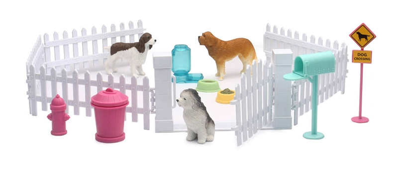 My Best Friend Dog Play Set with Fences and Accessories
