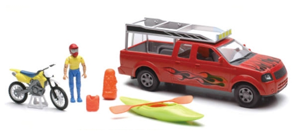 Xtreme Adventure Pickup Playset Playset Includes: Pickup truck