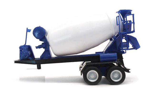2-Axle Cement Mixer Trailer (1:87)