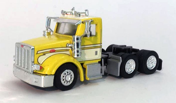 Peterbilt 367 Day Cab In Yellow and White (1:87), Promotex Item Number PRX006568