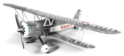 Wings of Texaco Airplane Series #23 (2015) - 1931 Stearman (1:38) - Special Brushed Metal Edition, Round 2 Model Airplanes Item Number CP7301