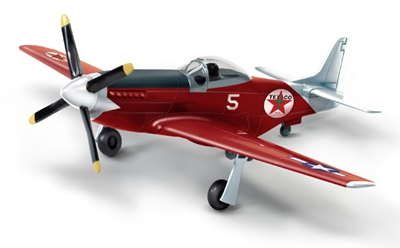 "P-51D Mustang ""Fuel for Victory"" Wings of Texaco 2018, Red Edition (1:44), Round 2 Model Airplanes Item Number CP7490"