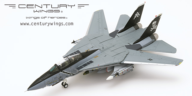 F-14B Tomcat Diecast Model USN VF-103 Jolly Rogers, AA101, USS Dwight D. Eisenhower, 1998 (1:72), Century Wings Diecast Fighters Item Number CW-001626
