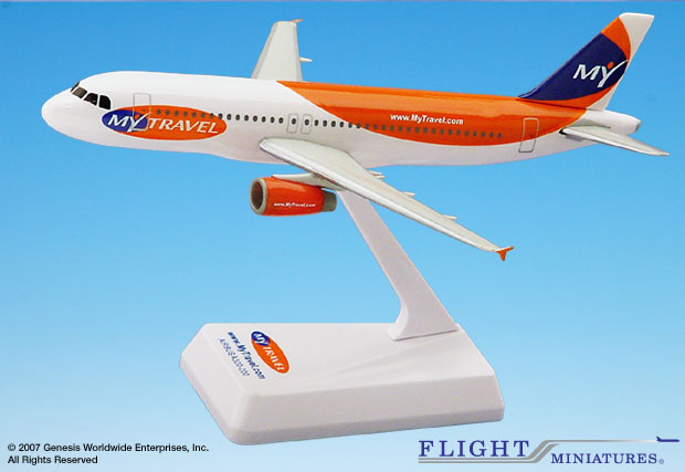 My Travel A320-200 (1:200), Flight Miniatures Snap-Fit Airliners Item Number AB-32020H-050
