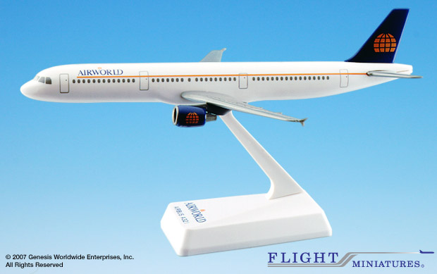 Airworld A321-200 (1:200), Flight Miniatures Snap-Fit Airliners Item Number AB-32100H-006