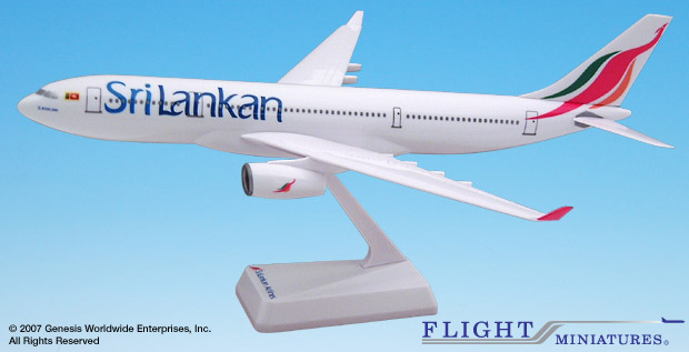 Sri Lanka (99-Cur) A330-200 (1:200), Flight Miniatures Snap-Fit Airliners Item Number AB-33020H-006
