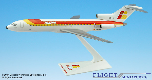 Iberia 727-200 727-200 (1:200), Flight Miniatures Snap-Fit Airliners Item Number BO-72720H-030