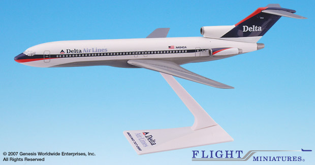 Delta (97-00) 727-200 (1:200), Flight Miniatures Snap-Fit Airliners Item Number BO-72720H-032