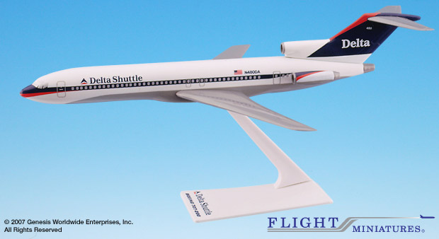Delta Shuttle (97-00) 727-200 (1:200), Flight Miniatures Snap-Fit Airliners Item Number BO-72720H-033