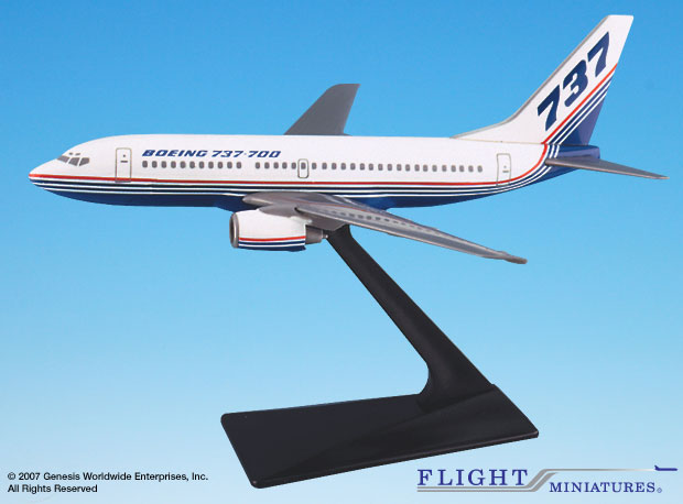 Boeing 737-700 House Colors (1:200), Flight Miniatures Snap-Fit Airliners Item Number FMBOE006