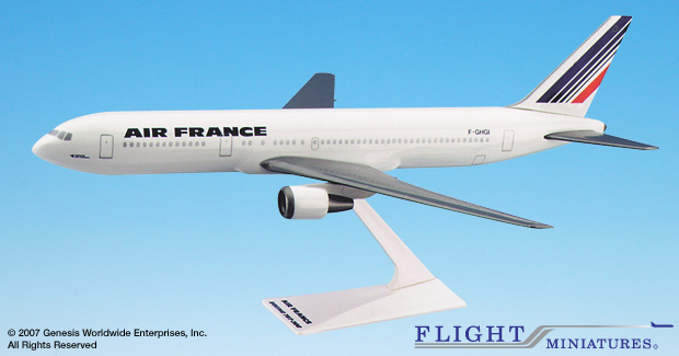 Air France 767-300 (1:200), Flight Miniatures Snap-Fit Airliners Item Number FMAFR030
