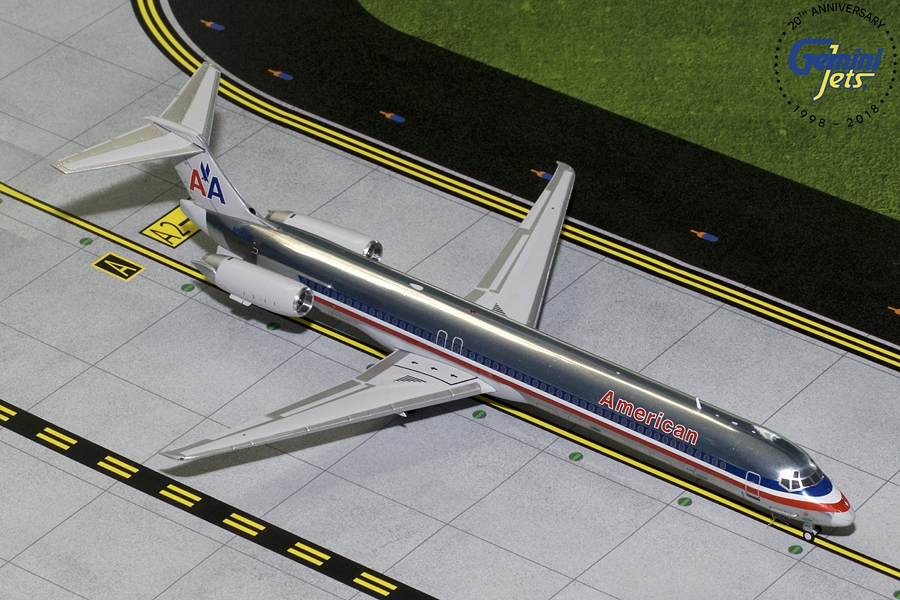American MD-83 Polished N9621A (1:200) - Preorder item, order now for future delivery