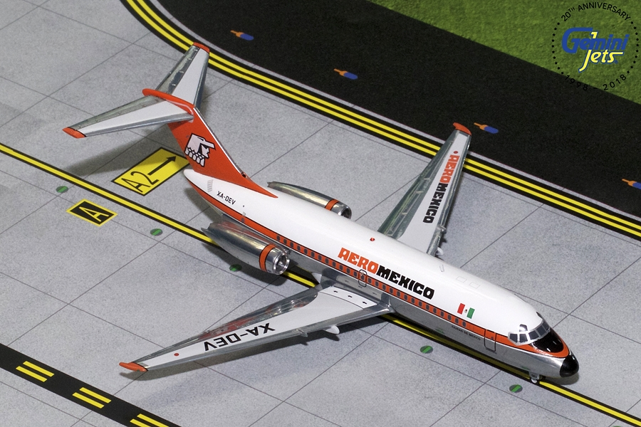 Aeromexico DC-9-15 Polished XA-DEV (1:200) - Preorder item, order now for future delivery