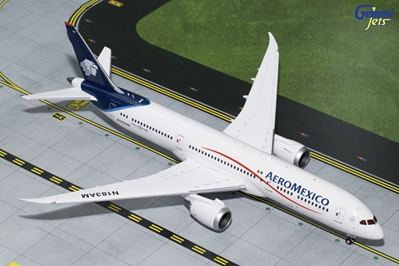 "AeroMexico B787-9 Blue and White Livery"" N183AM (1:200) , GeminiJets 200 Diecast Airliners Item Number G2AMX648"