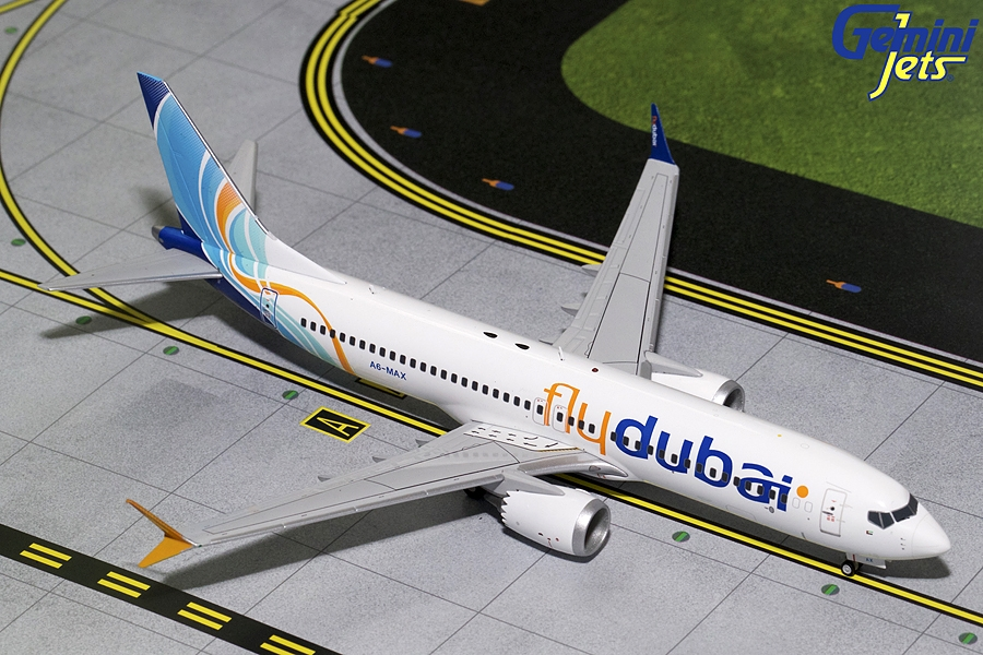 Fly Dubai B737 MAX-8 A6-MAX (1:200) - Preorder item, order now for future delivery