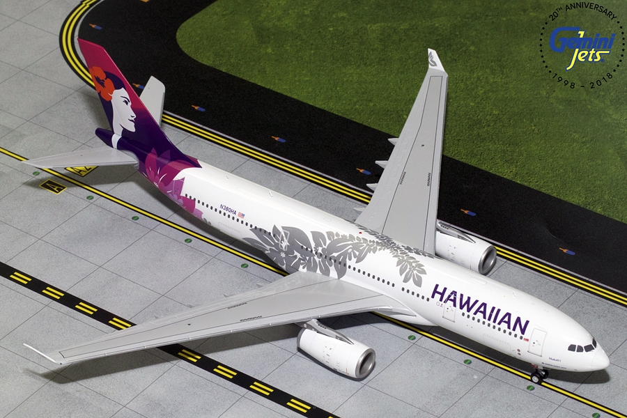 Hawaiian Airlines A330-200 New Livery N380HA (1:200) - Preorder item, order now for future delivery