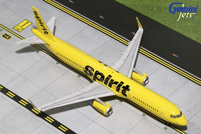 Spirit Airlines A321-200 Yellow Livery, Sharklets N668NK (1:200), GeminiJets 200 Diecast Airliners Item Number G2NKS620