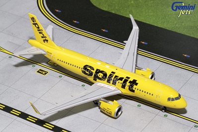 Spirit Airlines A320neo N902NK (1:200), GeminiJets 200 Diecast Airliners Item Number G2NKS681