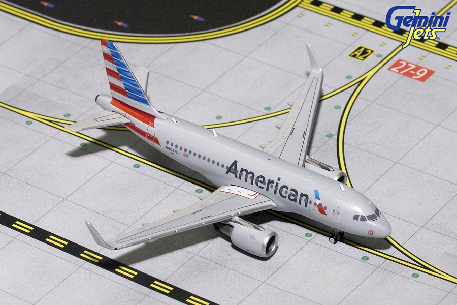 American Airlines A319 Sharklets N8027D (1:400), GeminiJets 400 Diecast Airliners Item Number GJAAL1702