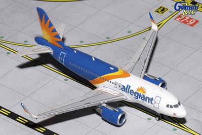 Allegiant A319(S) New Livery, Sharklets) (1:400), GeminiJets 400 Diecast Airliners Item Number GJAAY1658