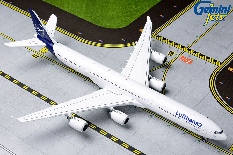 Lufthansa A340-600 New Livery D-AIHI (1:400) by GeminiJets 400 Diecast Airliners Item Number: GJDLH1830