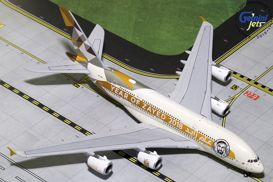 "Etihad A380-800 ""Year of Zayed, 2018"" A6-APH (1:400) - Preorder item, order now for future delivery"