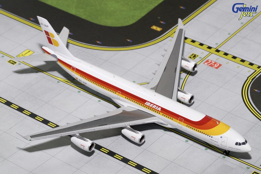 "Iberia A340-300 ""Old Livery"" EC-GUP (1:400)?, GeminiJets 400 Diecast Airliners Item Number GJIBE1630"