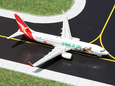 Qantas 737-800 VH-VXG Bring it On Rugby (1:400), GeminiJets 400 Diecast Airliners, Item Number GJQFA1301