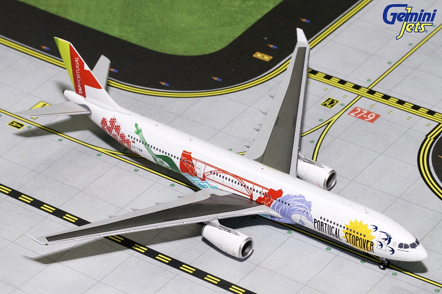 "TAP Air Portugal A330-300 ""Portugal Stopover"" CS-TOW (1:400), GeminiJets 400 Diecast Airliners Item Number GJTAP1697"