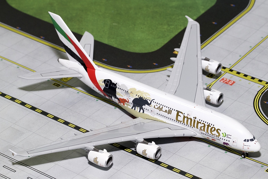 "Emirates A380-800 ""Wildlife #2"" New Logo A6-EER (1:400)"