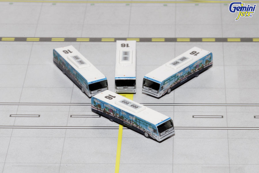 "US Airways Cobus 3000 ""Greener"" (4 buses) (1:400) New Mould, GeminiJets 400 Diecast Airliners Item Number GJUSA1534"