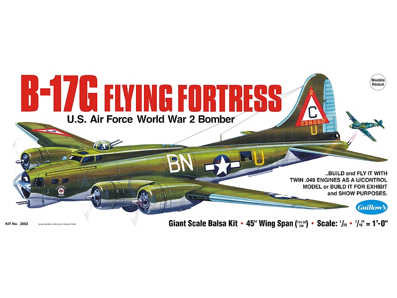 "B-17G Flying Fortress 45"", Guillow Item Number GUI2002"