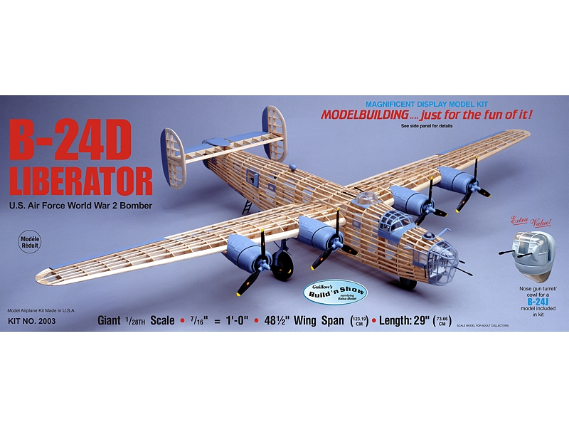 "B-24D Liberator 48"", Guillow Item Number GUI2003"