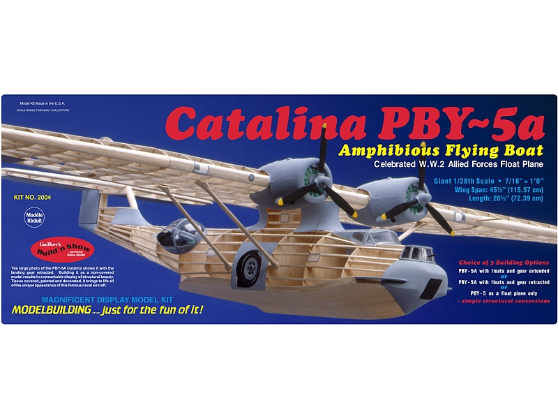 "Pby-5 Catalina 45"", Guillow Item Number GUI2004"