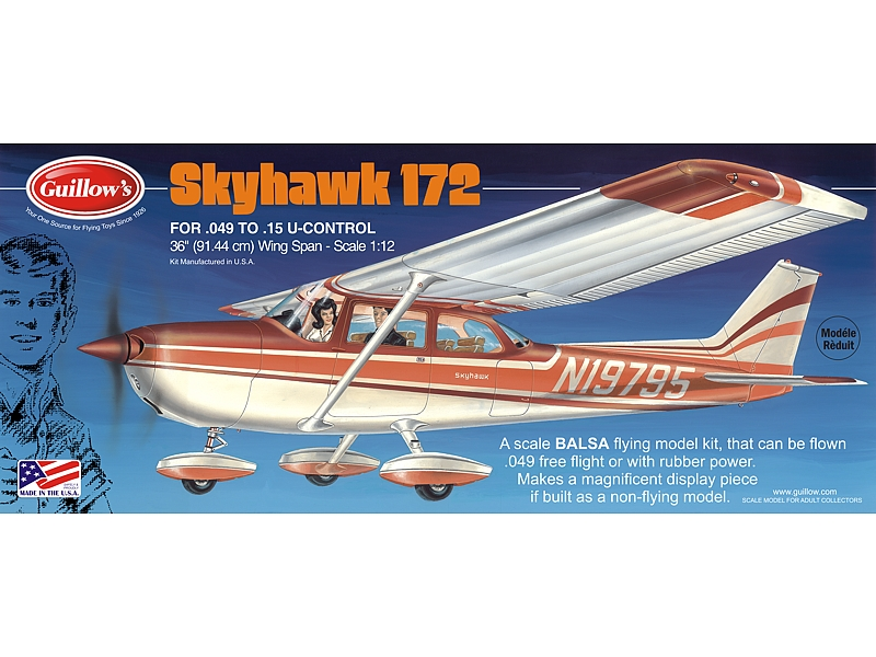 "Cessna Skyhawk 36"", Guillow Item Number GUI802"