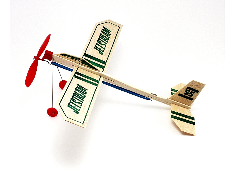 Jetstreams 55 Rubber Band Powered Airplane (18 Pack), Guillow Item Number GUI55