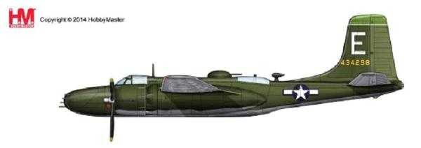 A-26B Invader, 89th BS/3rd BG, August 1945 (1:72)  , Hobby Master Diecast Airplanes Item Number HA3211