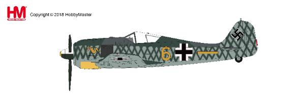 FW-190A-4 6./JG 1, Woensdrechtfield, Holland, Oct 1942 (1:48), Hobby Master Diecast Airplanes Item Number HA7423