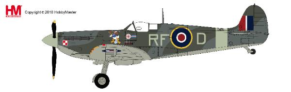 Spitfire Vb ,RF-D/EN951, flown by Sqn. Leader Jan Zumbach, 303 Sqn., RAF, summer 1942 1:48 - Preorder item, order now for future delivery, Hobby Master Diecast Airplanes Item Number HA7850