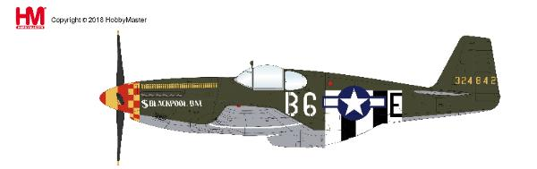 "P-51B Mustang, 363rd FS, 357 FG ""Blackpool Bat"" (1:48), Hobby Master Diecast Airplanes Item Number HA8512"