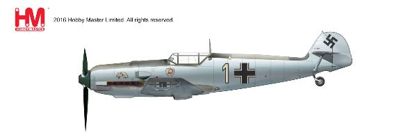 "Bf 109E-3, 1./JG 2 ""Richthofen"", Luftwaffe (1:48) - Preorder item, order now for future delivery, Hobby Master Diecast Airplanes Item Number HA8705"