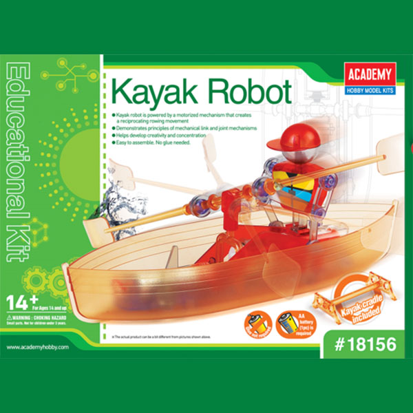 Kayak Robot, Academy Hobby Plastic Model Kits Item Number ACD18156