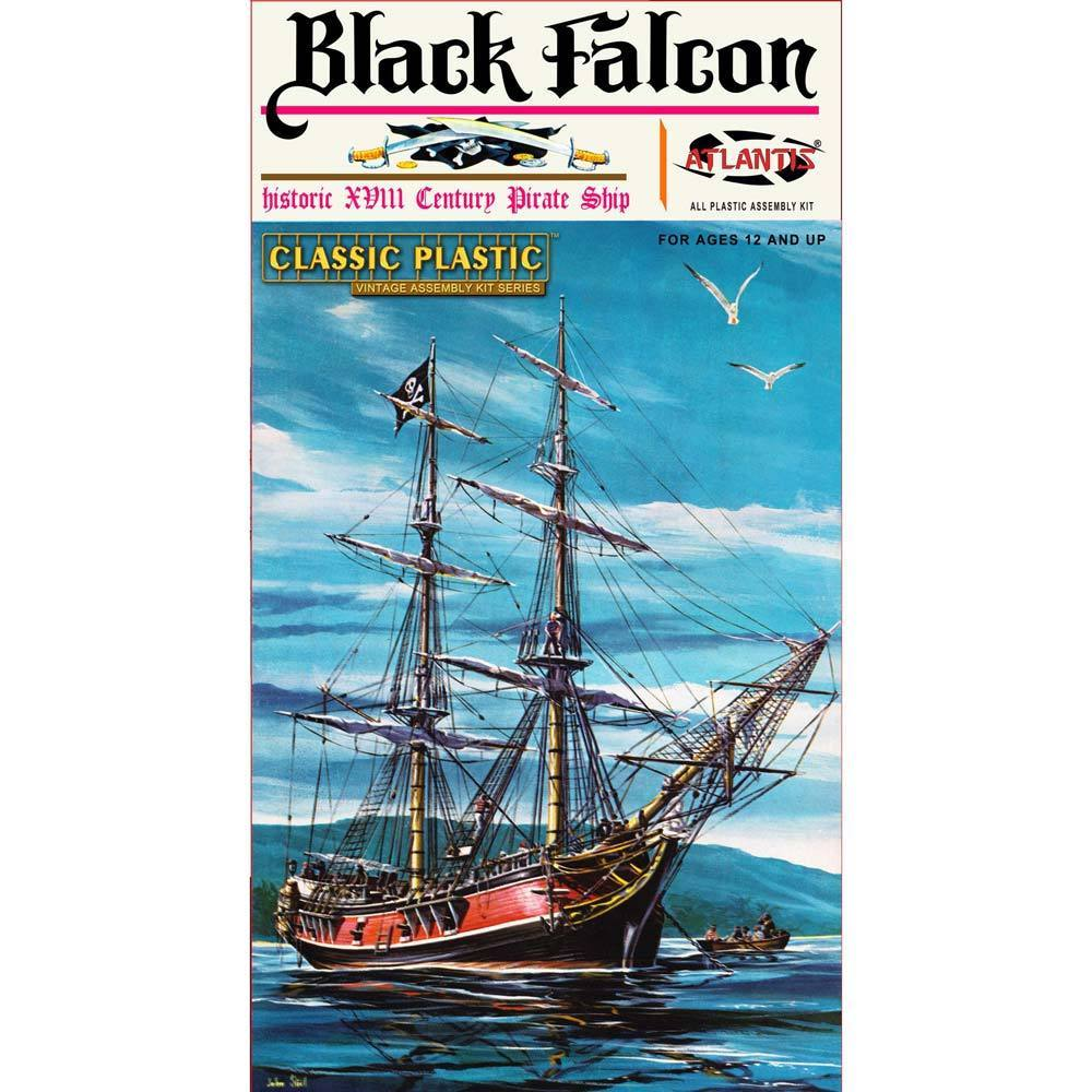 Black Falcon Pirate Ship 1:100, Atlantis Model Co. Item Number ALM6003