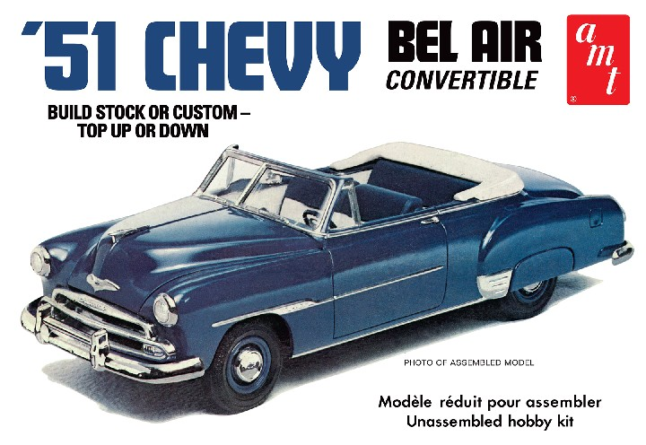 '51 Chevy Convertible 1:25, AMT Plastic Model Kits Item Number AMT1041