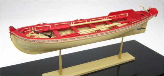 English Pinnace 21 (1:24), Model Shipways Item Number MOD1458