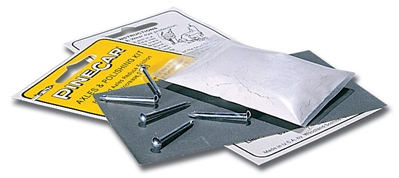 Axles & Polishing Kit, Pine Car Item Number PCR359