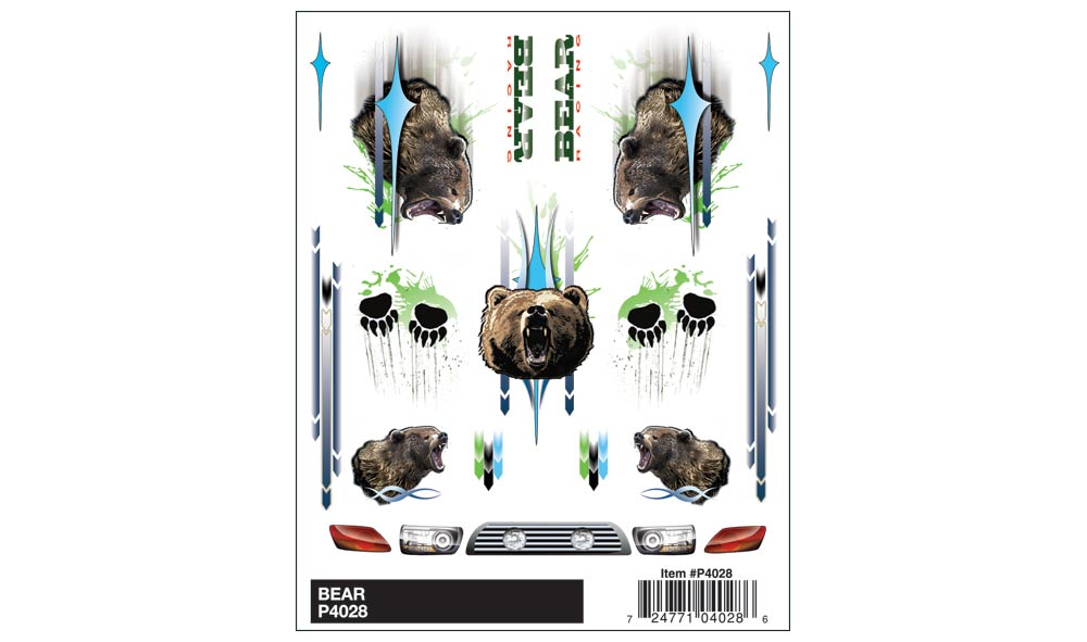 Bear Decal, Pine Car Item Number PCR4028